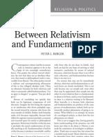 Berger, P.relativism