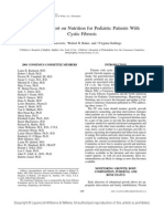 Consensus on Nutrition for CF 2002