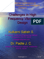 Challenges in High Frequency Vibration Design
