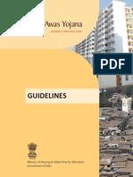 Rajiv Awas Yojana Guidelines
