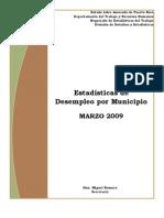 Desempleo de PR Por Municipio 2009