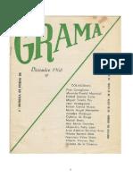 Revista de poesía GRAMA nº 3.