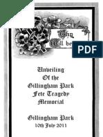 Gillingham Park Fete Tragedy Official Program of the 2011 Unveiling, Family copy