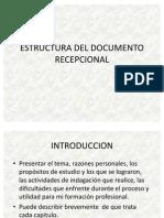 Estructura Del Documento Recepcional