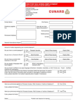 Cunard Line Application Form Email