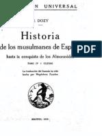 Historia de los musulmanes de España Tomo 4