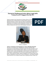 AFLA - Making Human Rights a Reality - European Parliament Seeks Africa Legal Aid's Counsel on EU Support for the ICC