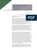 George Lakoff - Metaphors of Terror