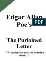 Edgar Allen Poe Purloined Letter