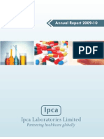 Ipca Labs Annual Report 2009 10