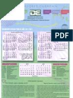 Calendario Oficial 2011-2012