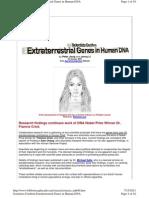 Scientists Confirm Extraterrestrial Genes in Human DNA