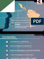 Perfil de un modelo desde la gestión del conflicto y la política pública por WALTER FERNÁNDEZ ULLOA