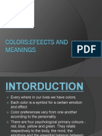 Colors Effects & Meanings