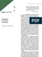 Bloor David ¿Què Puede Decir El Sociologo Del Conocimiento de 2+ 2= 4?