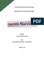 Carpeta pedagogica Computacion