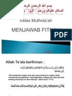 Mutholaah (menjawab Fitnah)