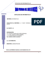 Antologia de a II
