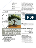 Fruitfulness 3 - 1 Chron 29-1-9 Handout 072411