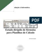 Fórmulas para Planilhas de Cálculo – Estudo dirigido