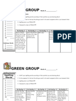 Green Group Spelling Work