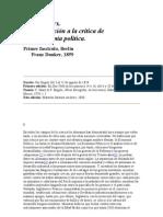 Carlos Marx Contribucion a La Critica Economia Politica