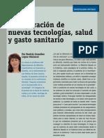 Incorporacion de Nuevas Tecnologias -Salud y Gasto Sanitario - 2010