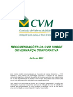 CVM - Cartilha de Governança Corporativa
