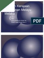 Warisan Kerajaan Kesultanan Melaka - Politik, Ekonomi & Sosial