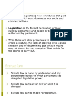 Topic a Lecture 7 - Statute Law Without Cases