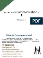 Business Communication - 1