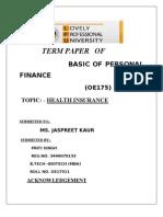 Term Parer of Finance