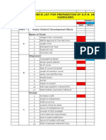 Check List for DPR Preparation of Rural Roads in Hilly Areas