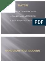 ARSITEKTUR POST MODERN, LATE MODERN & DEKONSTRUKSI (1)