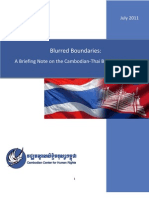 Blurred Boundaries - A Briefing Note on the Cambodian-Thai Border Tensions