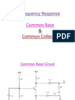 Common Base - Collector -Frequency Response
