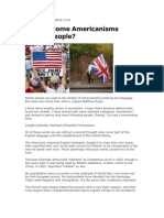 Matthew Engel on American Isms