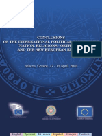 """Conclusions of the international political conference """"Nation, religions - Orthodoxy and the new european reality"""" (2005)"""