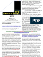 ! 4 Tips Shalat Khusyuk Baru - 8 Juli 2011