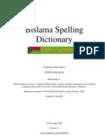 BislamaSpellingDictionary-v1.1