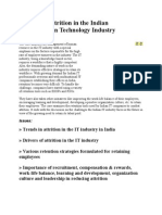 Managing Attrition in the Indian Information Technology Industry