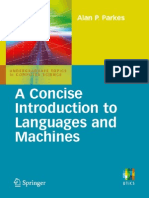 A Concise Introduction to Languages and Machines (Undergraduate Topics in Computer Science)