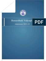 banasthaliadmissions2011-12
