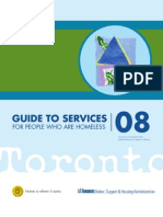 Guide to Services for people who are homeless- 2008 - Toronto