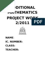 Additional Mathematics Project Work 2/2011