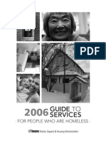 Guide to Services for people who are homeless- 2006 - Toronto