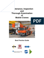 Maintenance and Thorough Examination of Mobile Cranes