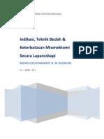 Indikasi, Teknik Bedah & Keterbatasan Miomektomi Secara Laparoskopi