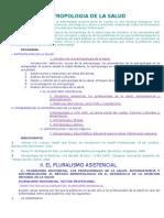 TEMARIO DE ANTROPOLOGÍA DE LA SALUD