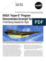NASA Facts NASA Hyper-X Program Demonstrates Scramjet Technologies 2002